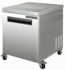 Maxx Cold 27in 1 Single Door Commercial Ss Undercounter Refrigerator Cooler