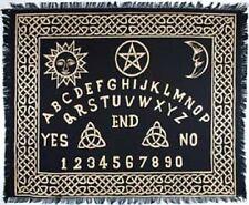 "Ouija-Board Altar / Tarot Cloth, Black and Gold 24"" x 30"" (Pagan, Wicca)"