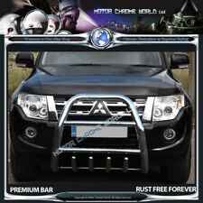MITSUBISHI SHOGUN PAJERO BULL BAR CHROME AXLE NUDGE A-BAR 60mm 2012-2015 NEW