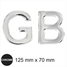 GB Chrome Letters badge emblem Sticker Mirror Effect Dome Car 3D Gel Resin Decal