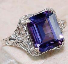 New 925 Sterling Silver Sapphire Gemstone Ring Wedding Women Men Date Party Lot