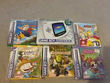 Nintendo Game Boy Advance White Handheld System Boxed With Games