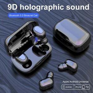 Wireless Bluetooth Earphones & Charging Pod - Mobile Phone Headphones Earphones