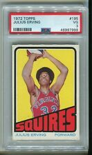 1972 Topps Julius Erving #195  PSA 3 Graded VG Rookie Card RC
