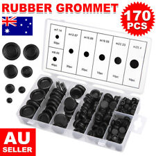 170pcs/Set Car Auto Rubber Grommet Firewall Hole Plug Electrical Wire Gasket Kit