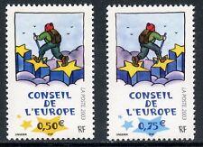 TIMBRE FRANCE SERVICE  126/127 ** CONSEIL DE L'EUROPE / OEUVRE DE TOMI UNGERER