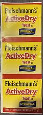 Fleischmann's Active Dry Yeast, 1 Strip Of Three 1/4 Oz Packets Exp 05/13/22