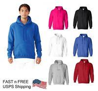 Brand New Men Basic Heavy Blend Cotton Pullover Plain Sweatshirt Hoodie M-2XL