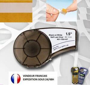 Étiquette recharge pour câblage fibre Brady BMP21-Plus M21-1500-B-427 Vinyl