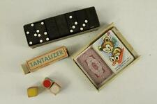 Vintage Estate Toy Lot DOMINOES Tantalizer & Whitman Snap Card Game