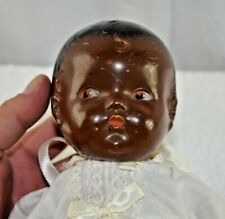 Antique Black Composition Baby Doll with side glancing eyes Circa 1914 - 12""