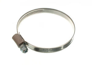 NEW HOSE CLAMP JUBILEE CLIP 50MM UP TO 70MM SS STAINLESS STEEL TOOLS ( pack of 2