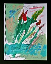 CY TWOMBLY -- A 1997 ORIGINAL ABSTRACT FLOWERS PAINTING PENCIL SIGNED, ROMA ROME