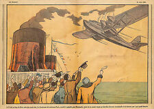"""LE HAVRE """" LE NORMANDIE """" & """" LE LIEUTENANT DE VAISSEAU PARIS"""" ILLUSTRATION 1935"""