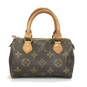 100% authentic Louis Vuitton mini Speedy handbag M41534 Used 10-4-a@1