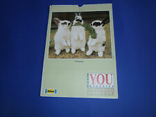 Tiere - Wandkalender 1991 von The Mail on Sunday YOU Magazine / England