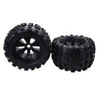 2pcs 1:8 RC Car Rubber Wheel Tires for Monster Truck HPI Savage Upgrade Kit
