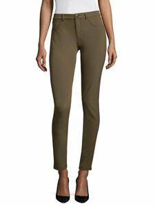 Lafayette 148 New York Mercer Skinny Ankle Pants Size 10 Nougat Stretch