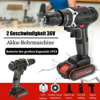 36V 25+3 3/8 '' Brushless Akku-Schlagschrauber Bohrmaschine LED + Li-Ion Akku