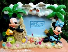 New listing Authentic Disney Mickey and Minnie Mouse Beach Scene High Relief Photo Frame