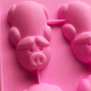 12 Cavity Silicone Pig Mould Tray Ice Freezer Chocolate Mold Birthday Animal