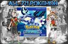 Legit Unlocked Pokemon Alpha Sapphire - All Megastones, All 721 Shiny, and More.