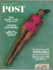 1967 Saturday Evening Post Junio 3 - Elke Sommer Haunted House ; Treblinka