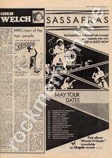 Sassafras Wheelin 'n' Dealin' Outlook, Doncaster MM5 LP/Tour Advert 1975