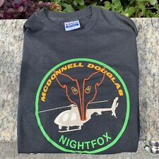 Vintage Early 90s McDonnell Douglas Nightfox Military Helicopter T-Shirt
