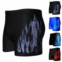 Men's Boxer Briefs Swimming Swam Shorts Trunks Swimwear Beach Pants Underwear