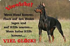 DOBERMANN - A4 Metall Warnschild SCHILD Hundeschild Alu Türschild - DBM 31 T39