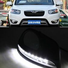 2x For Hyundai Santa Fe 2010-2012 White LED Daytime Day Fog Lights DRL Run lamp