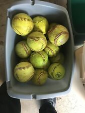30 Used Slow Pitch Yellow Softballs- Average - Conditions yellow