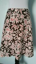 Ann Taylor Skirt, Floral pink and brown Size 6P