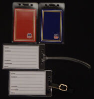 Set of (2) Luggage tags w/ Union Pacific Railroad playing card