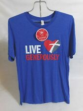 NWT Live Generously Blue T-Shirt by Bella Canvas Thrivent, Adult Sz  Medium