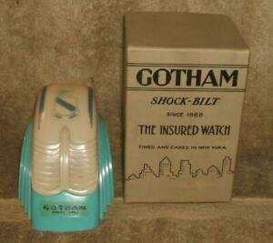 Art Deco Gotham Wristwatch Plastic Display Case in Original Box - NO WATCH