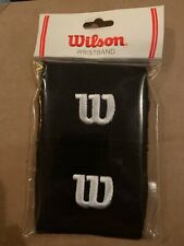 Wilson Pair Of Small Wristbands Black