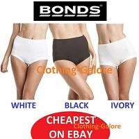 NEW BONDS WOMENS COTTONTAILS COTTON UNDERWEAR UNDIES WHITE BLACK PLUS SIZE 12-26