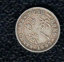HONGKONG 10 CENTS 1903 SILVER