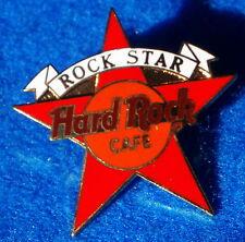 HRC HRI STAFF AWARDED RED ROCK STAR WHITE BANNER TAC BACK Hard Rock Cafe PIN