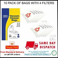 FITS MIELE FJM MICRO FIBRE VACUUM CLEANER DUST BAGS 10 PACK WITH 4 FILTERS