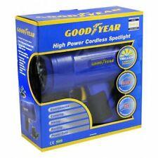 RECHARGEABLE HIGH POWER CORDLESS SPOTLIGHT TORCH WORK 1 MILLION GOODYEAR BLUE
