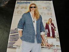 Stylecraft Mystique Quick and Light Pattern 9384 2 easy Knit Designs