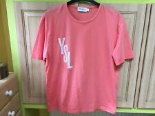 b4bb0ab3ea9 Yves Saint Laurent 💖 size 18 XXL coral pink top blouse t-shirt. 100