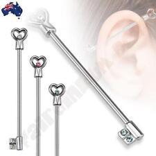 Cubic Zirconia Ear 14g (1.6 mm) Thickness Gauge Body Piercing Jewellery