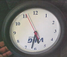 "DHIA Minnesota Dairy Farmer Wall clock battery operated 8.5"" dia farmers"