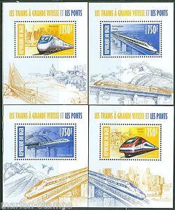 Niger 2013 High Speed Züge & Brücken Set Mit Vier Deluxe S/S Postfrisch