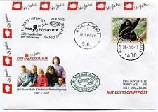 2002 Luftschiffpost n. 31 Pro Juvent. Dirigibile OE-ZHY Elixhausen Wallersee ONU