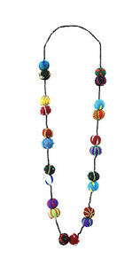 Necklace IN Beads Of Felt Peterandclo Nepal 5424